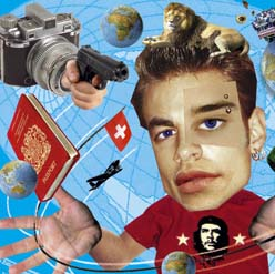 collage illustration about student gap year adventures